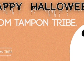 Halloween is spooky...100% organic tampons are not! :)