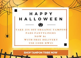 Celebrate Halloween with 100% organic tampons from Tampon Tribe