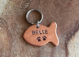 Custom Fish Pet ID tag