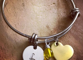 Custom child's bangle bracelet
