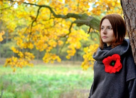 Longing for Red? Pin Poppy Brooch by BlanCraft