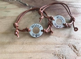 Custom washer adjustable bracelet