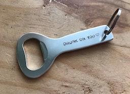 Custom bottle opener keychain