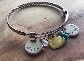 Custom name and birthstone bangle