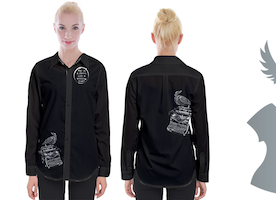 Raven on a Writing Desk Long Sleeve Blouse