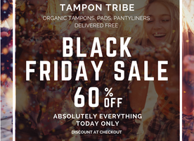 60% off at Tampon Tribe for Black Friday!