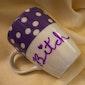 Bitch Purple Polka Dot Friend Gift Present LGBTQ Sassy Cussing Profanities Vintage Modified Mug Gifts Under 30