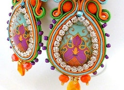 soutache statement crystal new year eve earrings