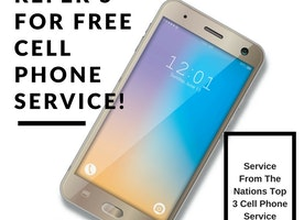 Refer 5 customers and get free cell phone service