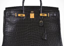 Hermes Birkin 40 Black Matte Crocodile Porosus Gold Hardware