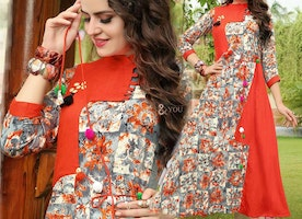 Captivating Printed Kurta Featuring In Rayon With Aline Pattern