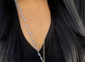 Blue Arrowhead Gold Fill Necklace