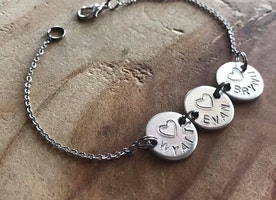 Personalized stainless steel chain bracelet