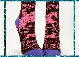 Runnin' The World And Stuff Socks