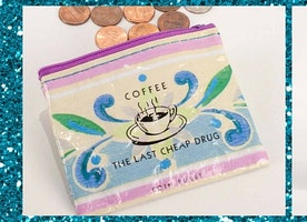 Coffee Money Coin Purse