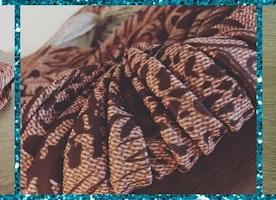 Florida Pink Fox Headwrap