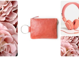 Think peach \\ 30% off our Peach Leather Clutch