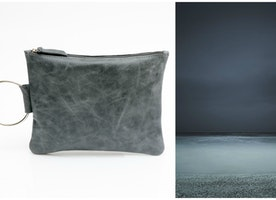 The Mayko Distressed Blue Clutch - The absolute perfect accessory to every pair of jeans, don't leave home without it!
