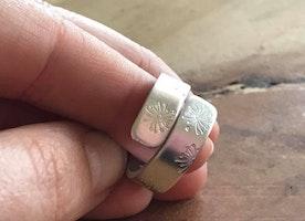 Custom wide band ring
