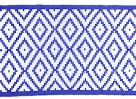 Hand woven, colorful, ethnic, geometric patterned, reversible rugs