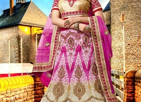 Glorious Booti Work Bridal Lehenga Choli