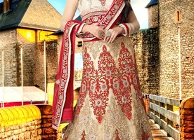 Alluring Beads Work Bridal Lehenga Choli