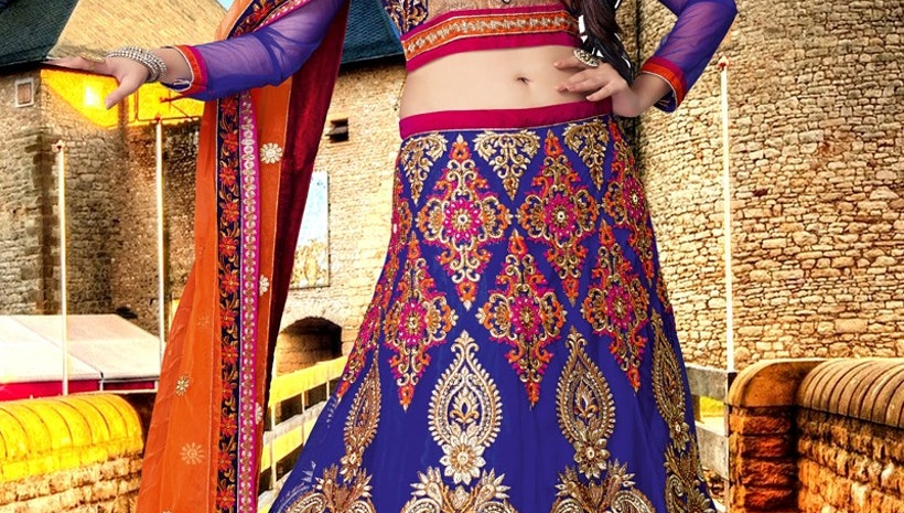 Enthralling Patch Border Work Bridal Lehenga Choli