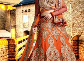 Fascinating Booti Work Bridal Lehenga Choli