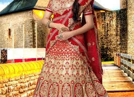 Beckoning Embroidery Work Bridal Lehenga Choli