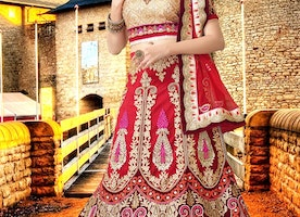 Captivating Stone Work Bridal Lehenga Choli