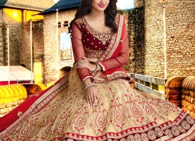 Stunning Beads Work Bridal Lehenga Choli