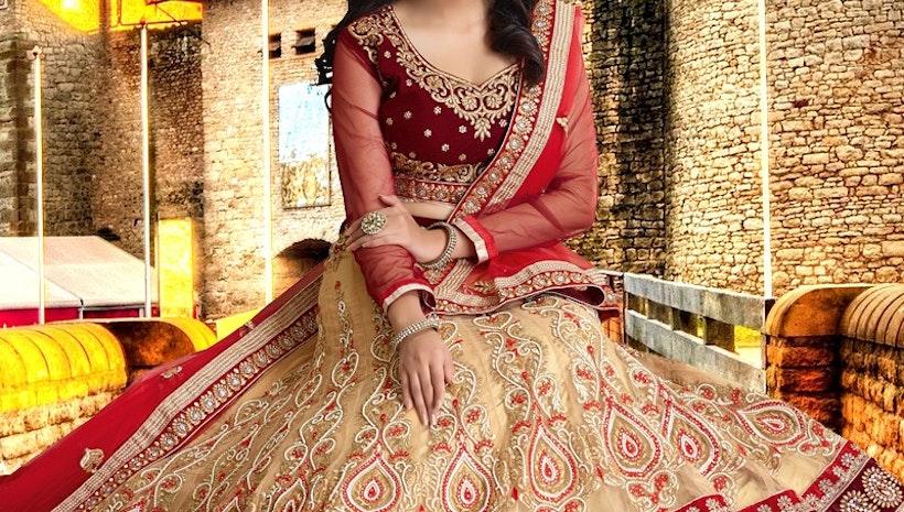 Stunning Beads Work Bridal Lehenga Choli
