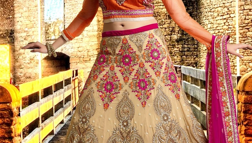 Enchanting Faux Georgette Bridal Lehenga Choli