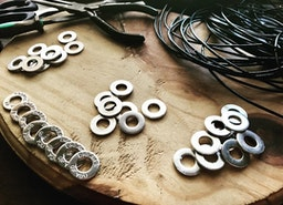 Custom handmade washer jewelry