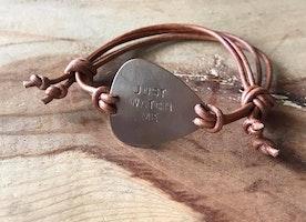 Guitar pick bracelet