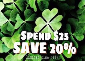 St Patricks Sale! ends 3-18-18
