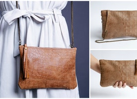 Crocodile texture leather shoulder evening bag. End of stock clearance 50% OFF!