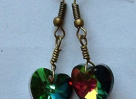 My funny Valentine heart earrings
