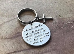 Godfather/Godmother keychain