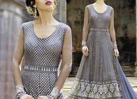 Unrivaled Blue Modern Style Floor Length Anarkali For Engagement