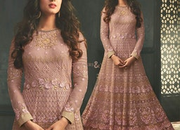 Provocative Light Pink Sequins Worked Anarkali For Every Shape