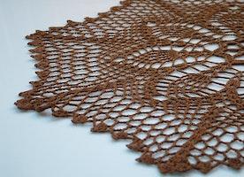 crochet brown center piece