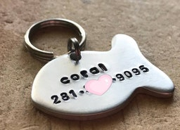 Cat ID tag with phone number