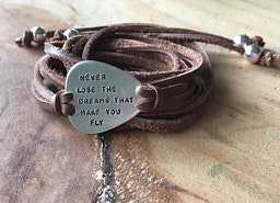 Custom guitar pick wrap bracelet