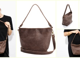 Mini Shiri Bag // Umber Leather Not too big, not too small - Just right!  Wear on your shoulder // across the body // In hand