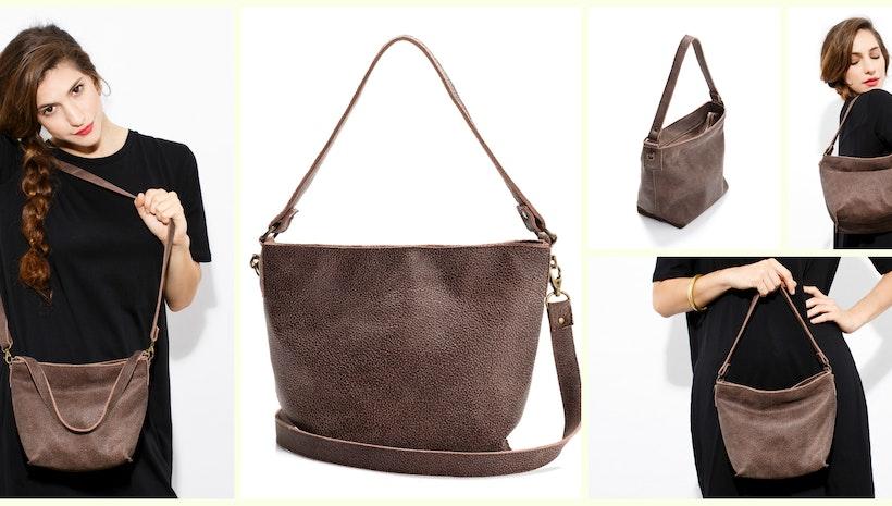 Mini Shiri Bag    Umber Leather Not too big 1546d1be5ce9f