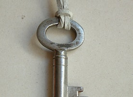 Real vintage key necklace