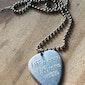 Silver custom guitar pick necklace