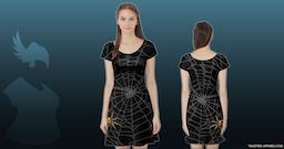 Spider Web Tunic Dress