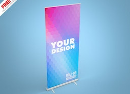 Roll up Mockup Banner PSD
